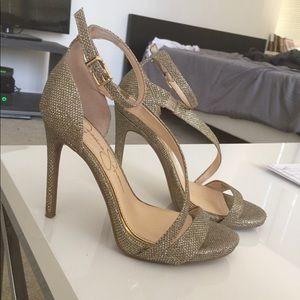 Jessica Simpson Gold strappy heels